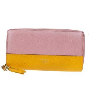 Gucci Bamboo Undefined,Leather Long Wallet (bi-fol